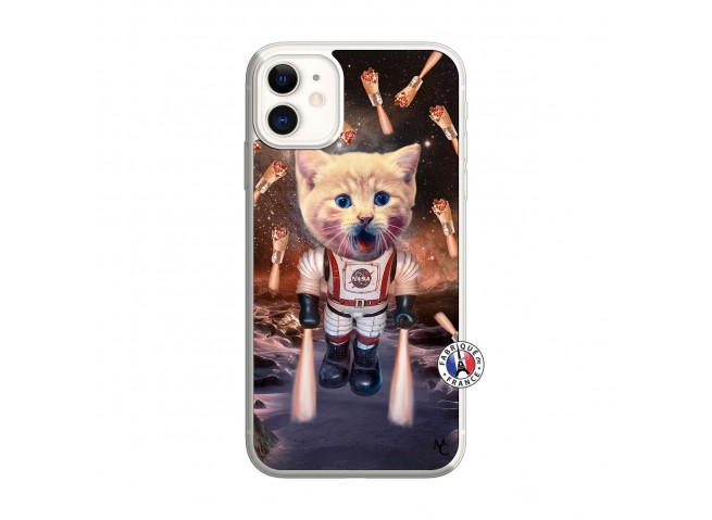 Coque iPhone 11 Cat Nasa Translu