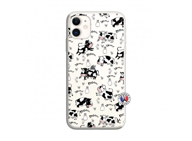 Coque iPhone 11 Cow Pattern