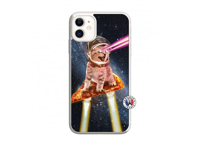 Coque iPhone 11 Cat Pizza Translu