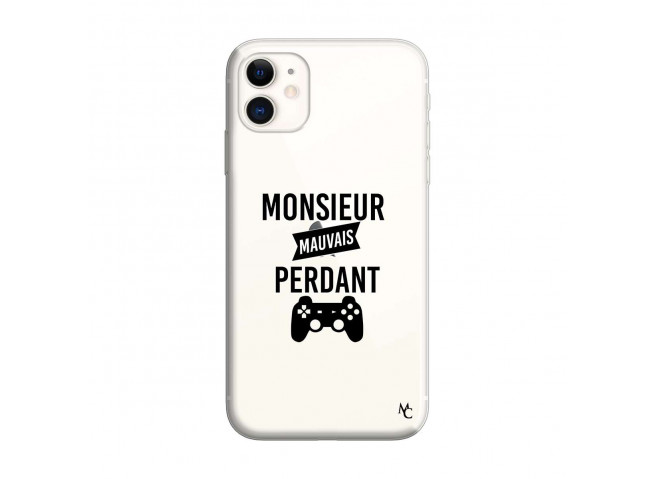 Coque iPhone 11 Monsieur Mauvais Perdant