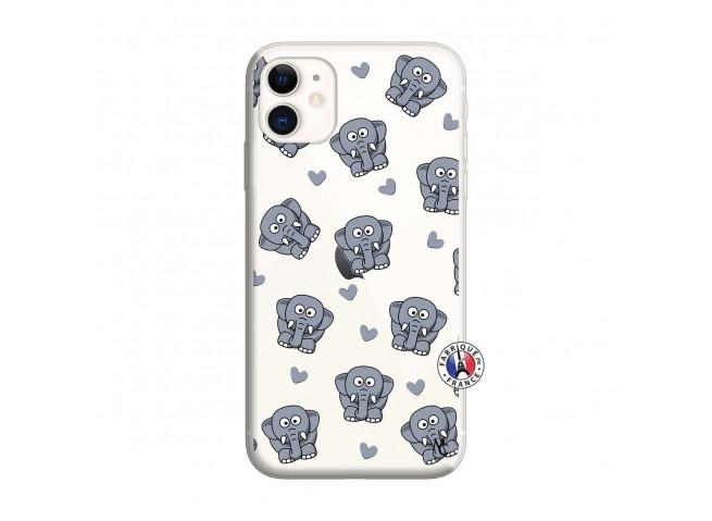 Coque iPhone 11 Petits Elephants