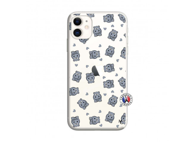 Coque iPhone 11 Petits Hippos