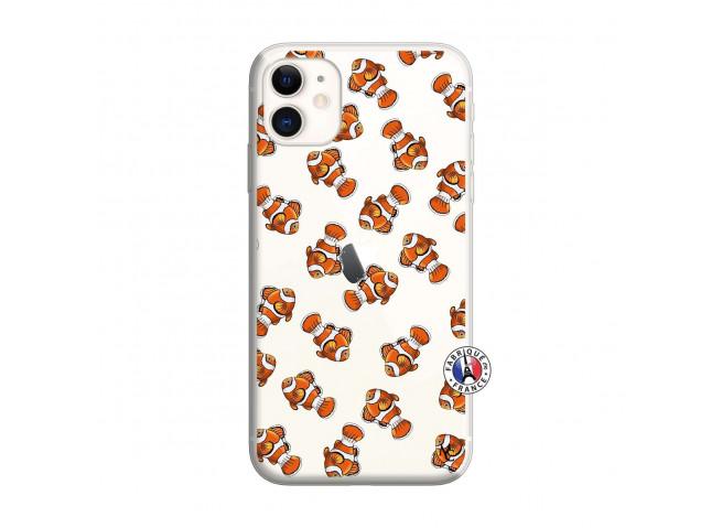 Coque iPhone 11 Petits Poissons Clown