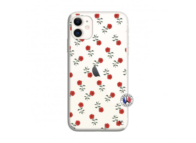 Coque iPhone 11 Rose Pattern