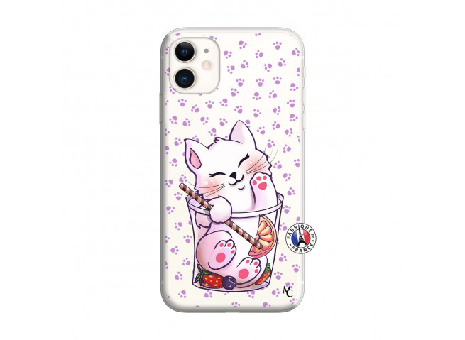 Coque iPhone 11 Smoothie Cat