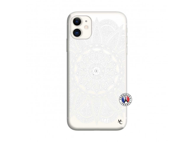 Coque iPhone 11 White Mandala