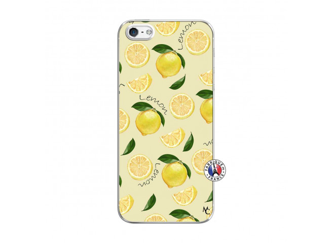 Coque iPhone 5/5S/SE Sorbet Citron Translu