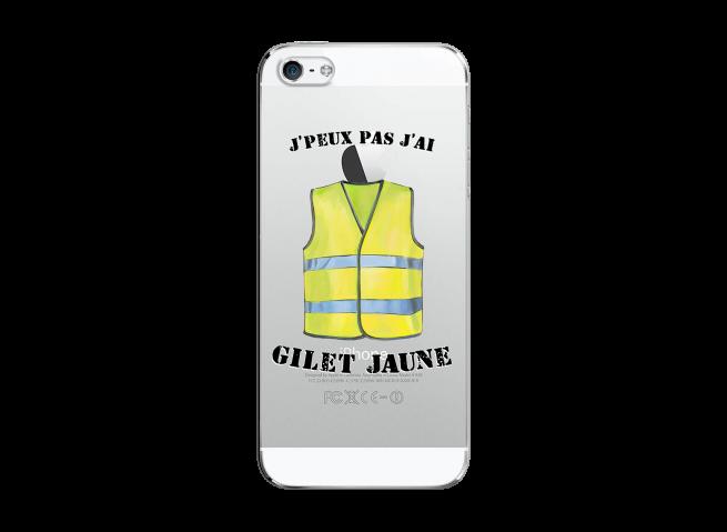 Coque iPhone 5/5S/SE J Peux Pas J Ai Gilet Jaune