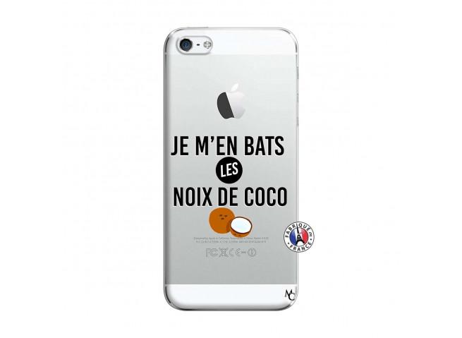 Coque iPhone 5/5S/SE Je m'en bats Les Noix De Coco