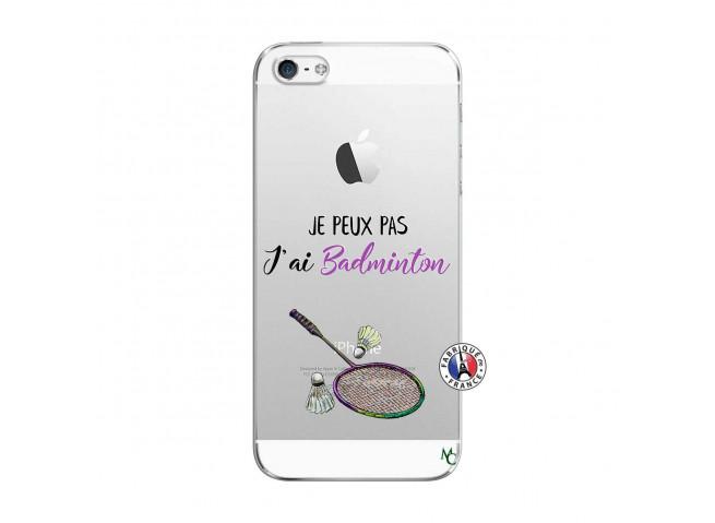 Coque iPhone 5/5S/SE Je Peux Pas J Ai Badminton