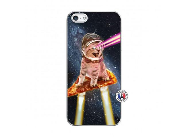 Coque iPhone 5/5S/SE Cat Pizza Translu