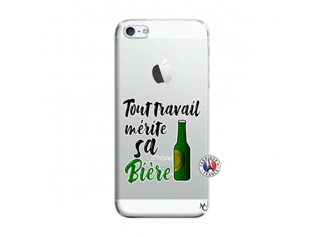 Coque iPhone 5/5S/SE Tout Travail Merite Sa Biere