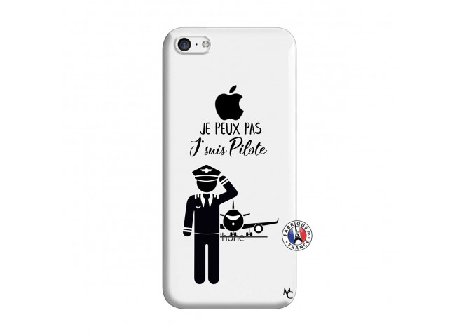 Coque iPhone 5C Je peux pas j'suis pilote