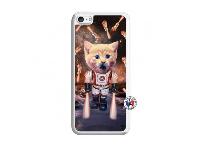 Coque iPhone 5C Cat Nasa Translu