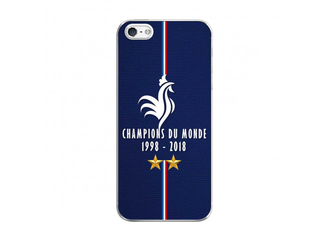 Coque iPhone 5C Champions Du Monde 1998 2018 Transparente