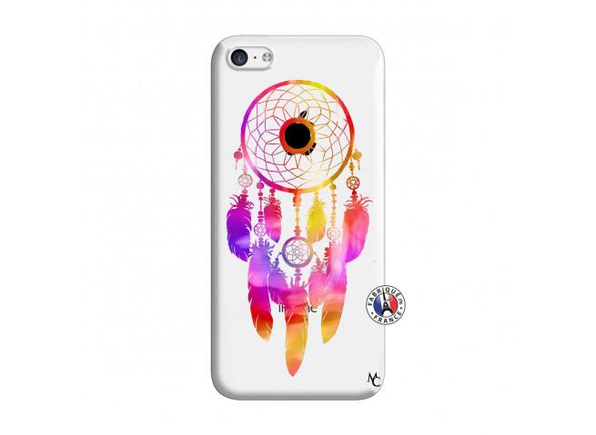Coque iPhone 5C Dreamcatcher Rainbow Feathers