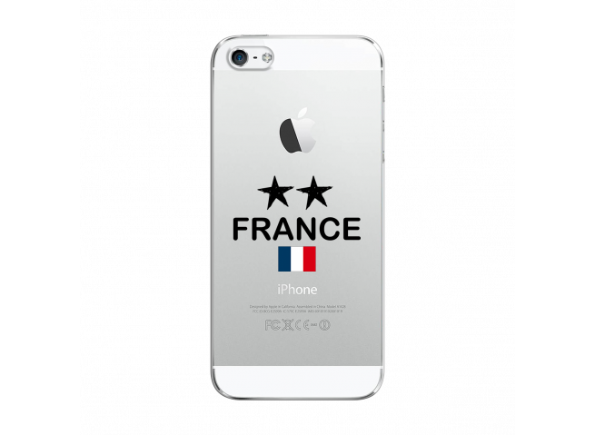 Coque iPhone 5C France 2 Etoiles
