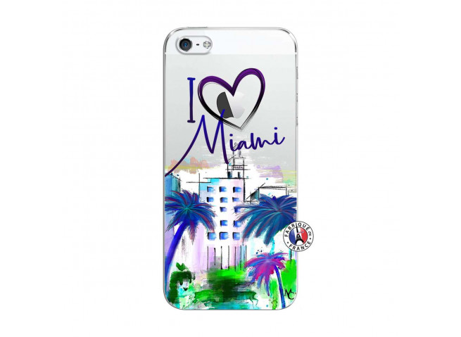 Coque iPhone 5C I Love Miami