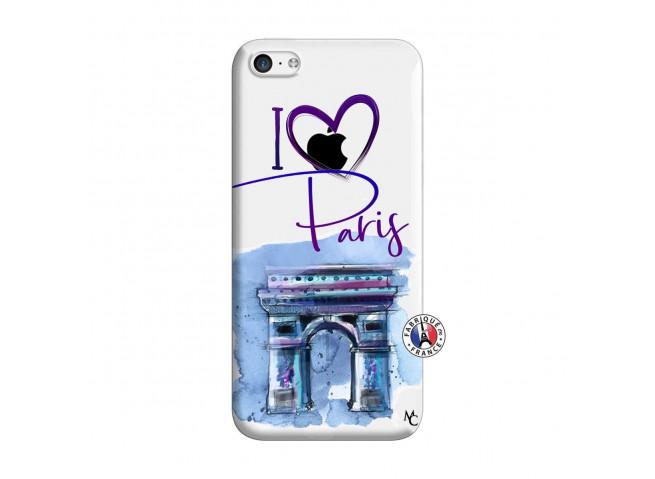Coque iPhone 5C I Love Paris Arc Triomphe