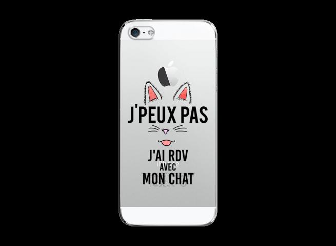 Coque iPhone 5C J Ai Rdv Avec Mon Chat