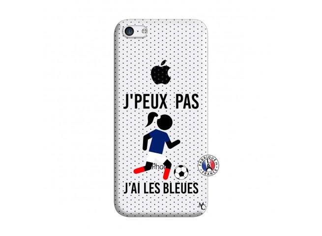 Coque iPhone 5C Je Peux Pas J Ai Les Bleues Maillot