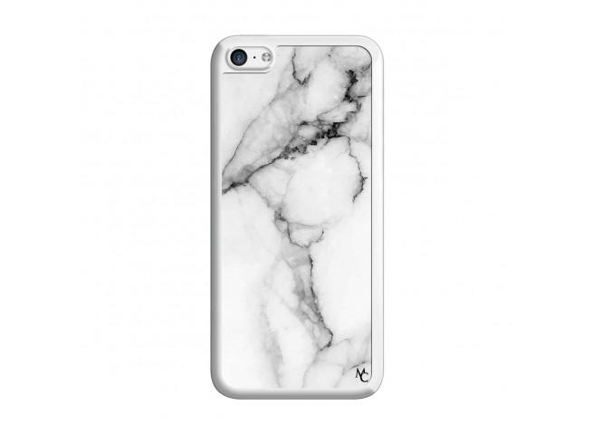 Coque iPhone 5C White Marble Translu
