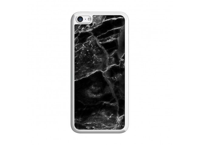 Coque iPhone 5C Black Marble Translu