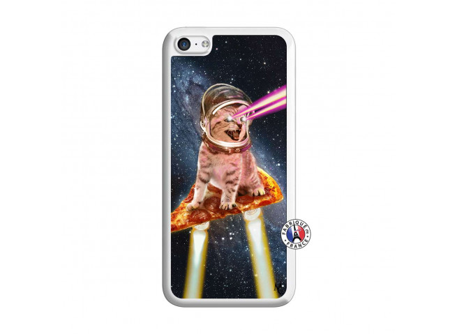 Coque iPhone 5C Cat Pizza Translu
