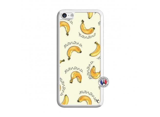 Coque iPhone 5C Sorbet Banana Split Translu