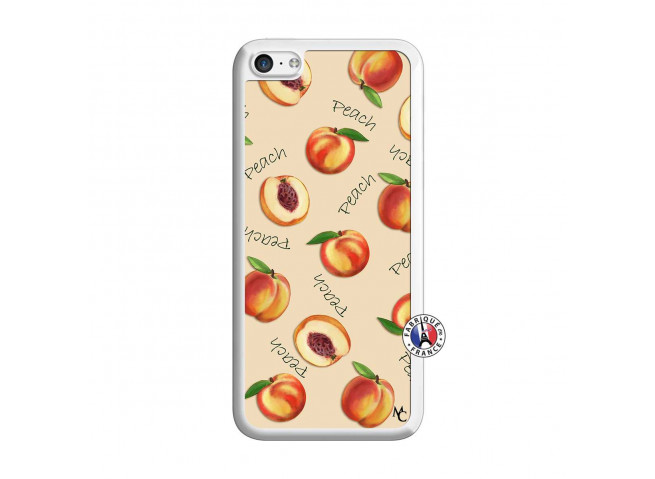 Coque iPhone 5C Sorbet Pêche Translu