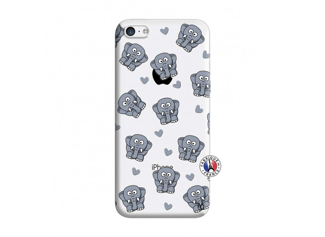 Coque iPhone 5C Petits Elephants