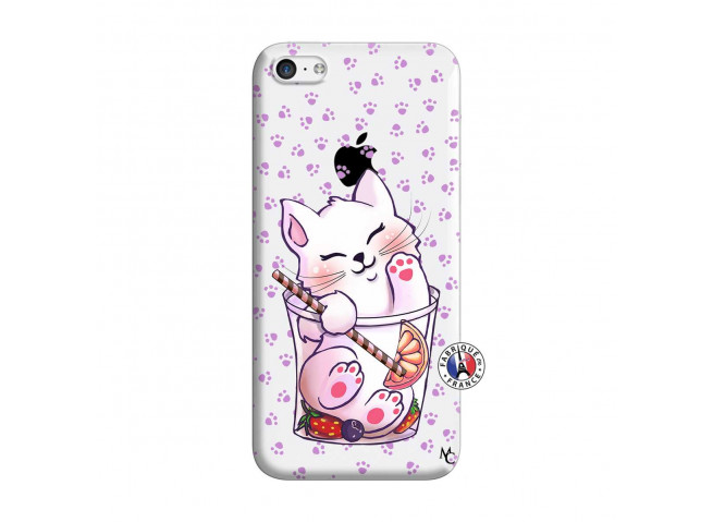 Coque iPhone 5C Smoothie Cat