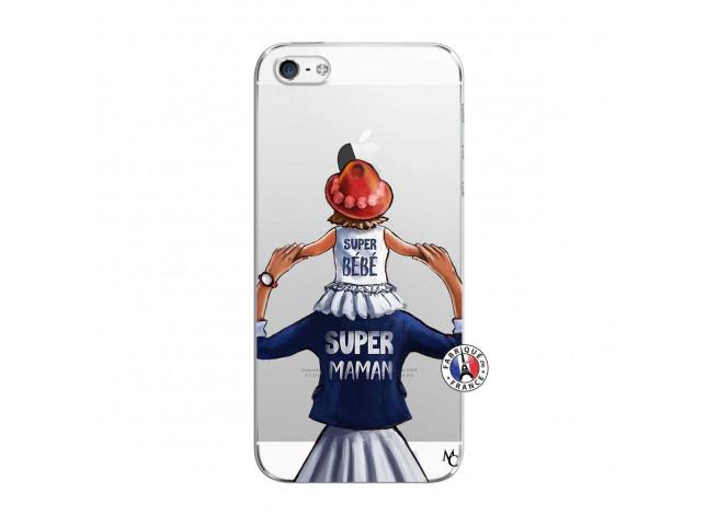 Coque iPhone 5C Super Maman Et Super Bébé