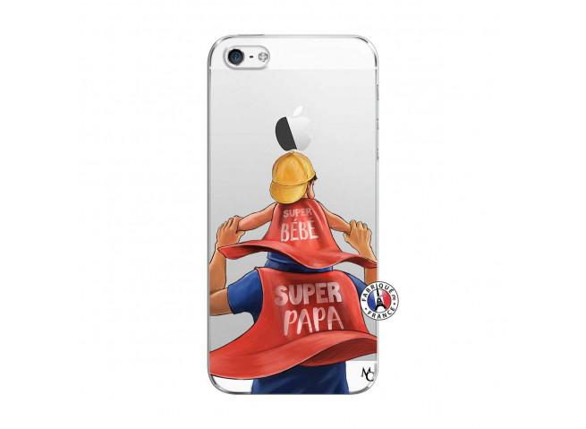 Coque iPhone 5C Super Papa et Super Bébé