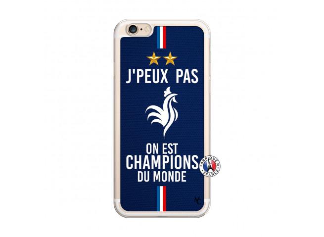 Coque iPhone 6 Plus/6s Plus Je Peux Pas On Est Les Champions Du Monde Translu
