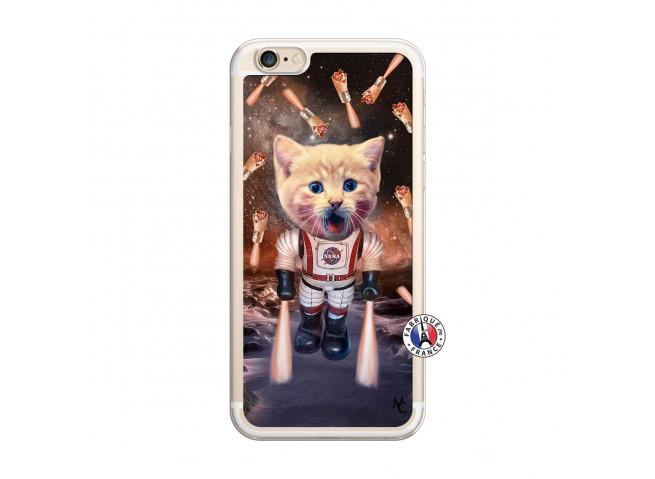 Coque iPhone 6/6S Cat Nasa Translu
