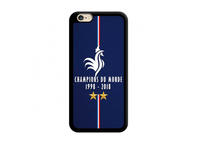 Coque iPhone 6/6S Champions Du Monde 1998 2018 Noire