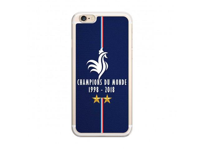 Coque iPhone 6/6S Champions Du Monde 1998 2018 Transparente