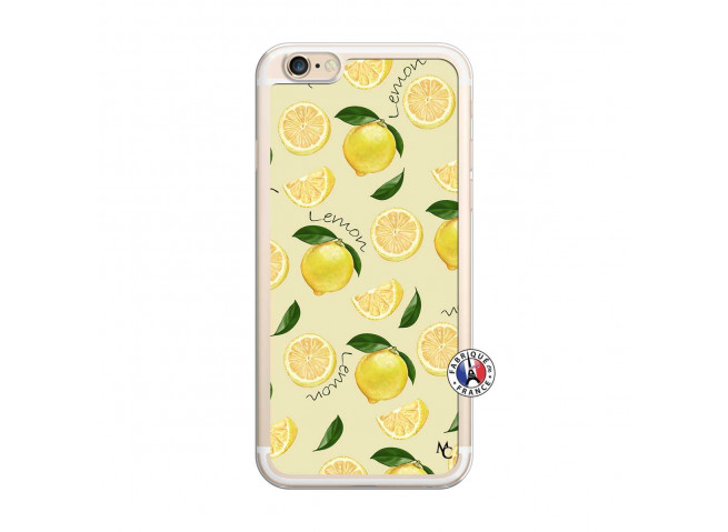 Coque iPhone 6/6S Sorbet Citron Translu