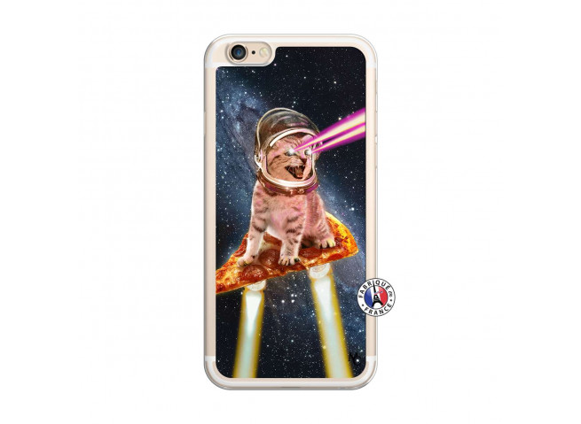 Coque iPhone 6/6S Cat Pizza Translu