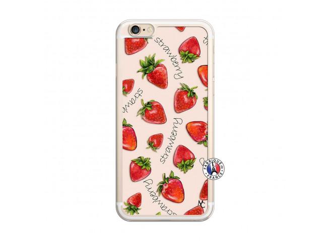 Coque iPhone 6/6S Sorbet Fraise Translu
