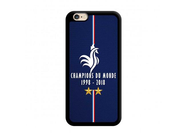 Coque iPhone 6Plus/6SPlus Champions Du Monde 1998 2018 Noire