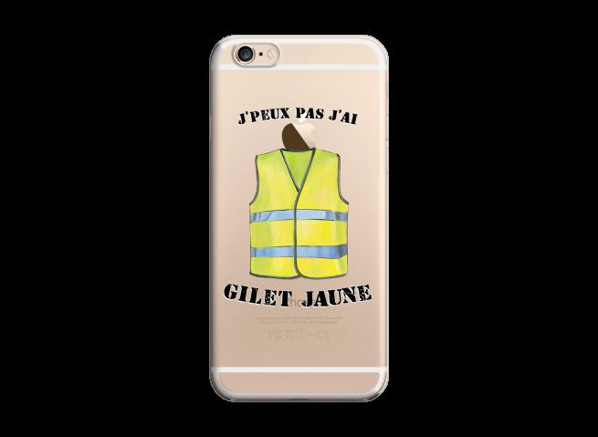Coque iPhone 6Plus/6SPlus J Peux Pas J Ai Gilet Jaune