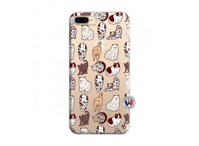 Coque iPhone 7 Plus/8 Plus Cat Pattern