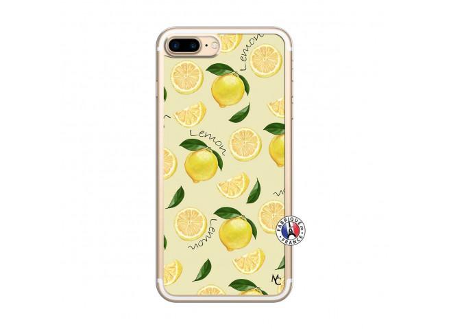 Coque iPhone 7 Plus/8 Plus Sorbet Citron Translu