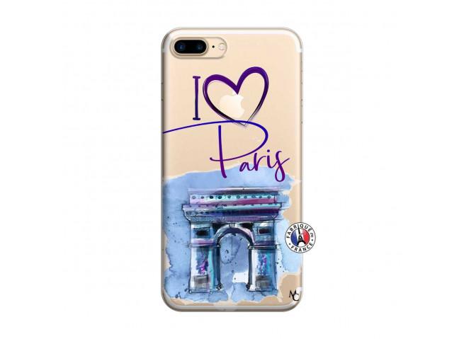 Coque iPhone 7 Plus/8 Plus I Love Paris Arc Triomphe