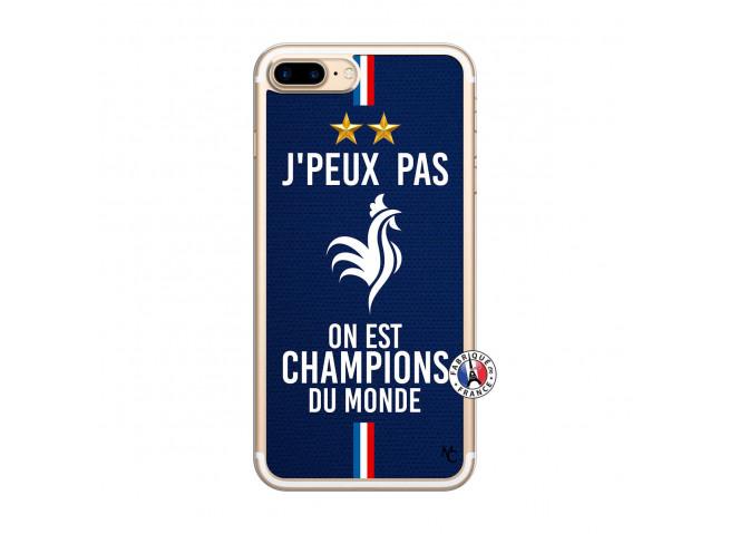 Coque iPhone 7 Plus/8 Plus Je Peux Pas On Est Les Champions Du Monde Translu
