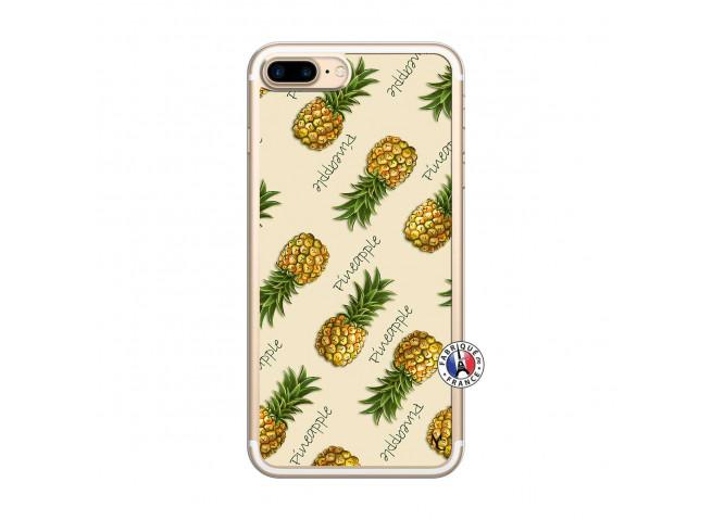 Coque iPhone 7 Plus/8 Plus Sorbet Ananas Translu