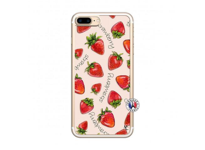 Coque iPhone 7 Plus/8 Plus Sorbet Fraise Translu