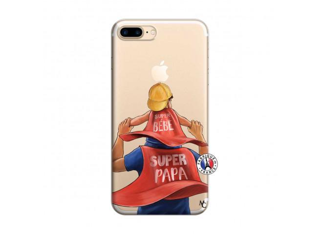 Coque iPhone 7 Plus/8 Plus Super Papa et Super Bébé